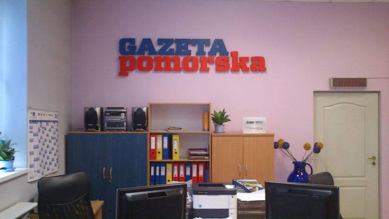 Litery bryłowe Włocławek Reklama Szyld Gazeta Pomorska