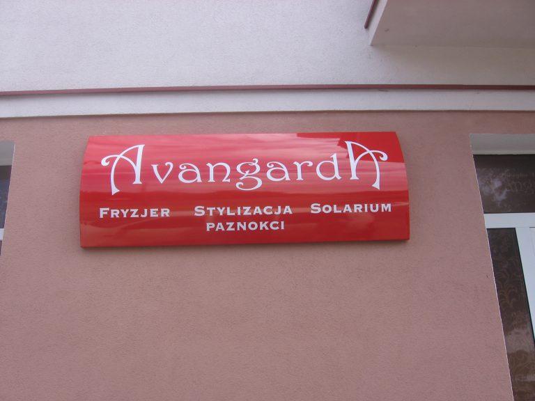 Szyld firmowy nad wejściem Włocławek Reklama