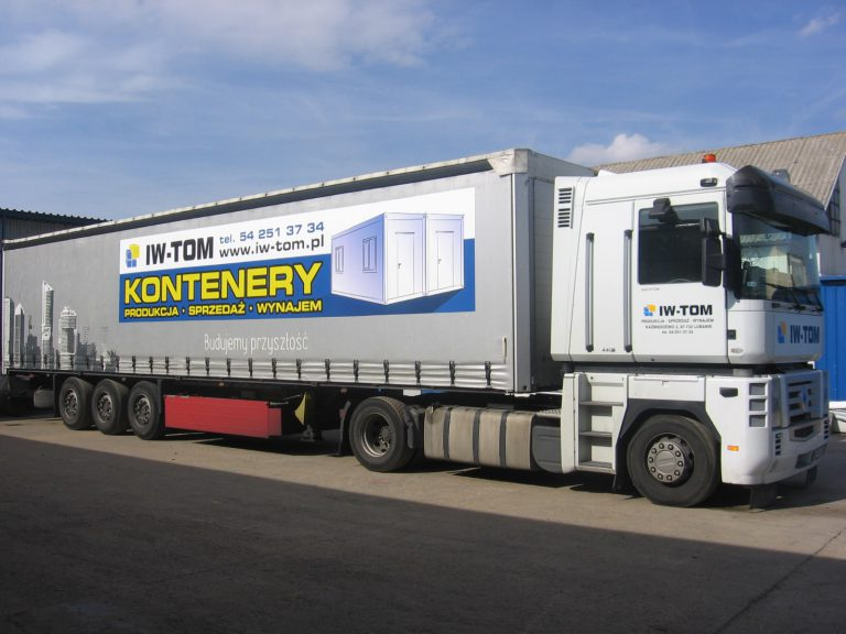 Reklama na ciężarówce Włocławek