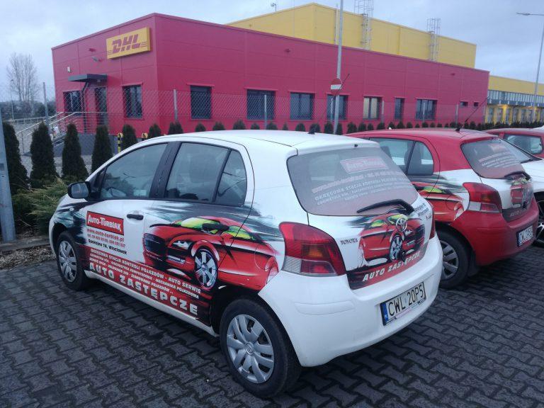 Oklejanie samochodów Reklama Włocławek